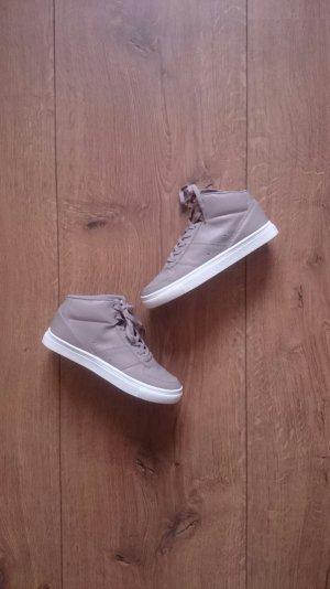 High Top Ankle Schnür Sneaker Turnschuhe grau beige camel 36