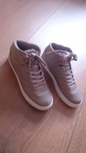 High Top Ankle Sneaker Turnschuh grau beige 36
