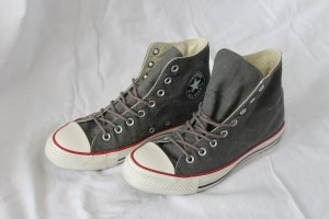 High top chucks in graugrün/kaki