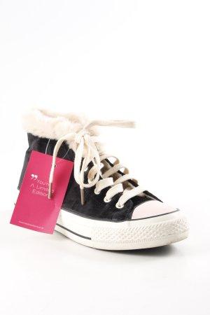 High Top Sneaker schwarz-creme College-Look