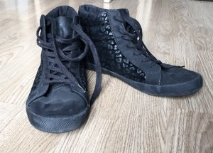 High-top sneaker schwarz
