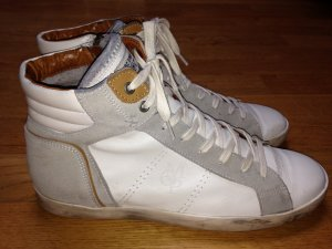 High Top Sneaker Vollleder im Vintage Look