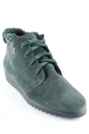 High Top Sneaker waldgrün abstrakter Druck Casual-Look
