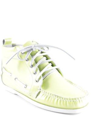 Sneaker alta verde prato stile stravagante