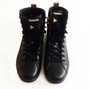 High Top Sneakers, Reebok, Schwarz/ Gold, Größe 38.5