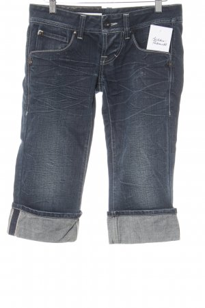 High Use 3/4 Jeans dunkelblau Webmuster Casual-Look