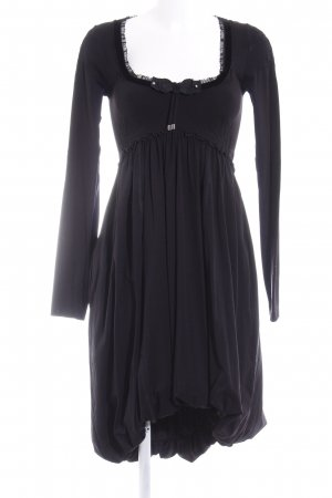 High Use vestido de globo negro elegante