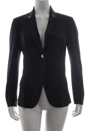 High Use Blazer noir motif de fleur style d'affaires