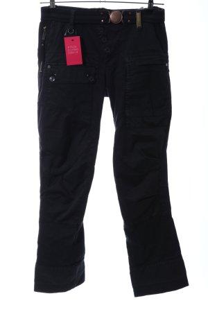 High Use High Waist Trousers black casual look