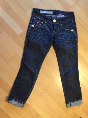 High Jeans taille basse bleu foncé