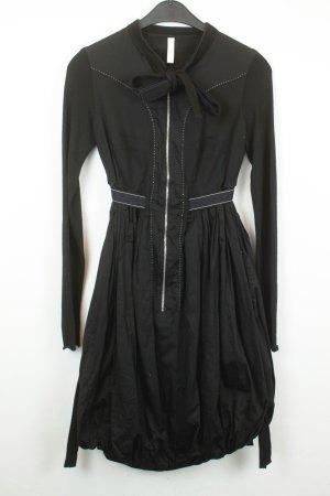 High Use vestido de globo negro-blanco
