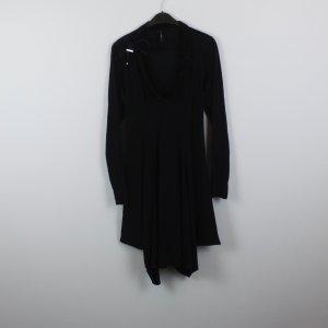HIGH USE Kleid Gr. 38 schwarz mit Samt Applikationen (18/10/286/R/E)