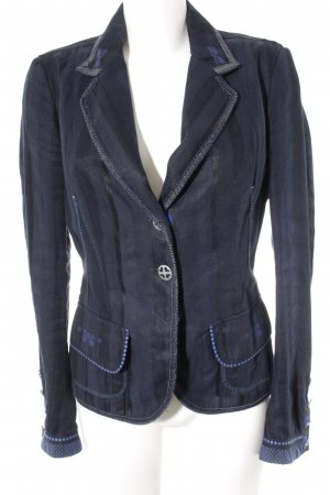 High Use Kurz-Blazer Streifenmuster Business-Look