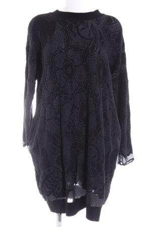 High Use Sweaterjurk zwart bloemenprint elegant