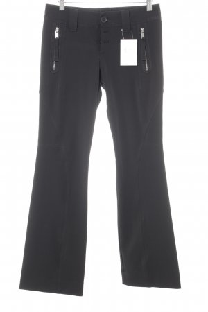 High Use Pantalone a zampa d'elefante nero stile casual