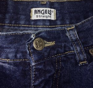 Angels Hoge taille jeans donkerblauw