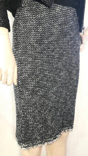Falda midi multicolor tejido mezclado