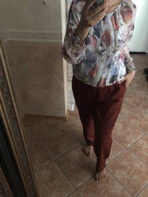 Zara Trafaluc Pantalone a vita alta multicolore