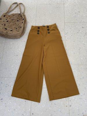 Zara High Waist Trousers sand brown