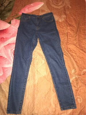 Forever 21 Hoge taille jeans donkerblauw-blauw