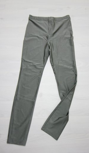 Forever 21 Pantalón de cintura alta gris verdoso