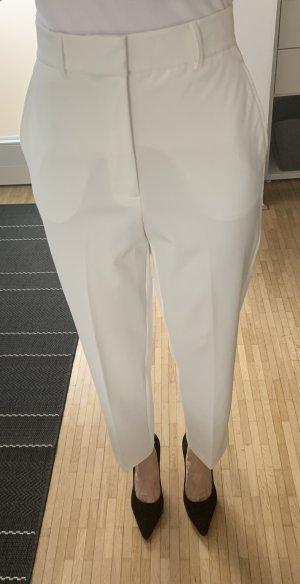 H&M Pantalon taille haute blanc cassé