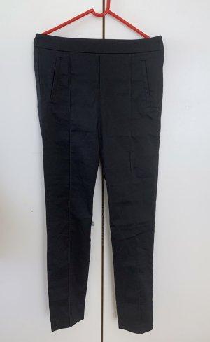H&M Pantalón de cintura alta negro Algodón