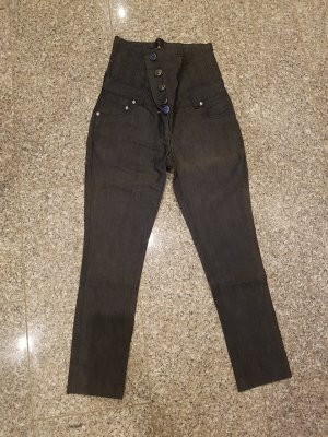 High Waist Trousers anthracite