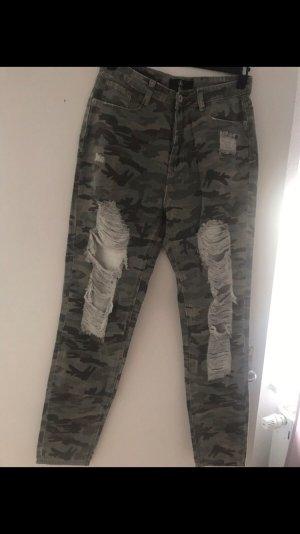Missguided Pantalon taille haute multicolore