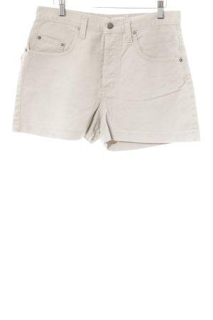 Hoge taille broek beige straat-mode uitstraling