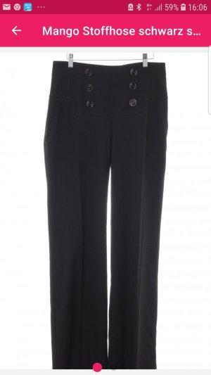 Mango High Waist Trousers black