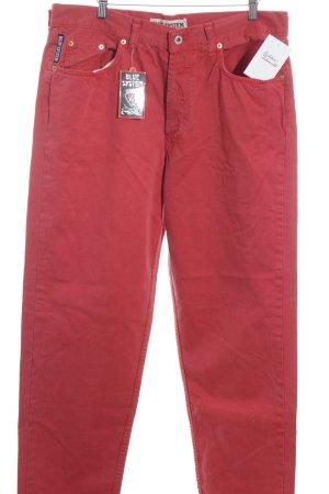 Pantalón de cintura alta rojo oscuro estilo sencillo