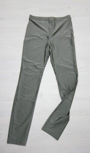 Forever 21 Pantalon taille haute gris vert
