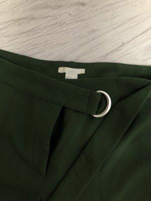 High Waist Hose Grün waldgrün mit Gürtel