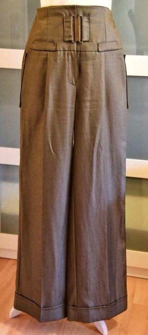 MNG SUIT Pantalón de cintura alta taupe Poliéster
