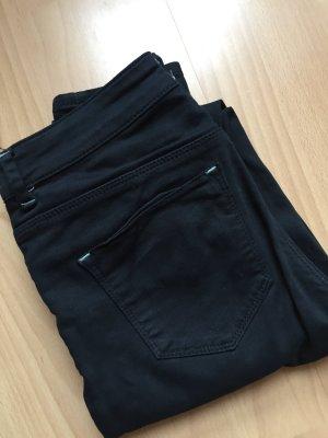 High Waist Hose in dunkel blau ASOS mit Löchern/Cut-Outs