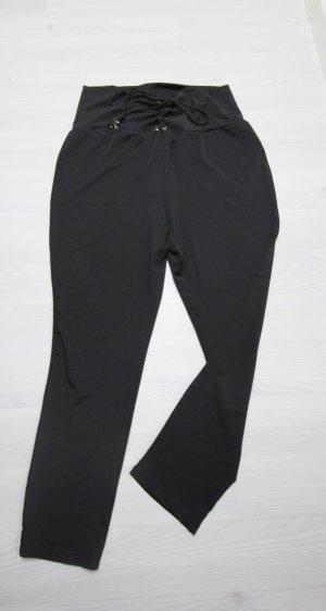 Leggings nero-argento