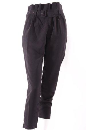High-Waist-Hose mit Gürtel schwarz
