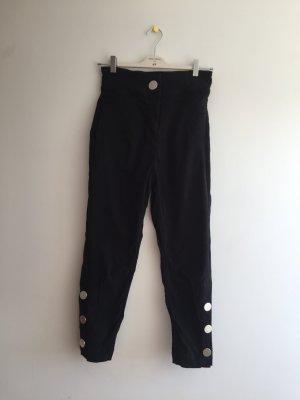 High waist Hose mit Silber Knöpfen, ZARA, Größe S