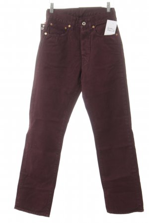 Hoge taille broek paars casual uitstraling