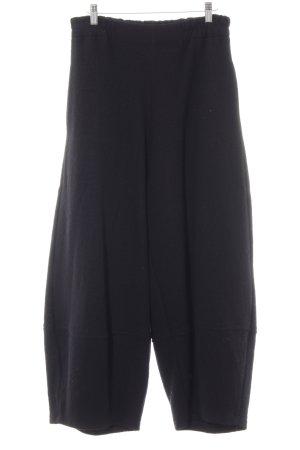 Pantalon taille haute noir style rétro