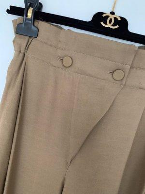 Massimo Dutti Pantalon taille haute chameau