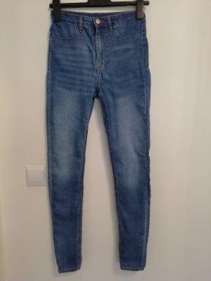 H&M High Waist Trousers steel blue