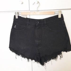 Angels Pantalón corto de talle alto negro
