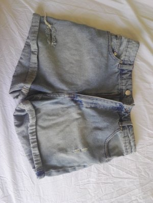 High Waist Hotpants Jeans Used-Look Cheap Monday