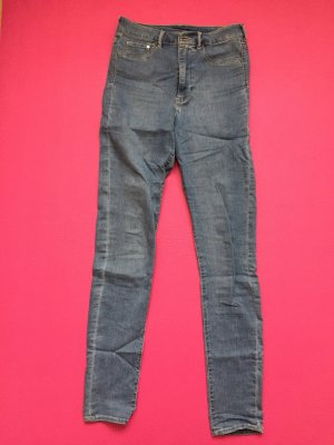 H&M Divided Jeans taille haute bleu acier
