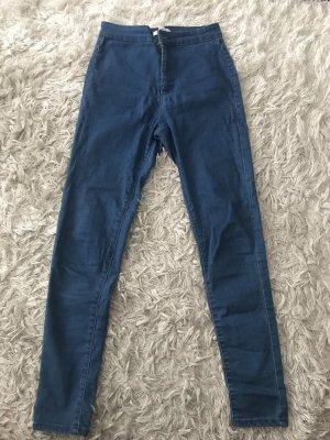 Forever 21 Hoge taille jeans staalblauw-donkerblauw