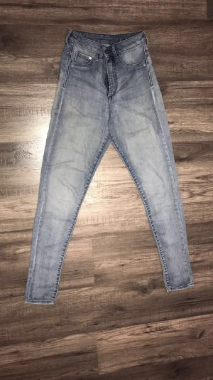 H&M Pantalone a vita alta azzurro