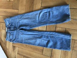 & other stories Hoge taille jeans staalblauw Katoen