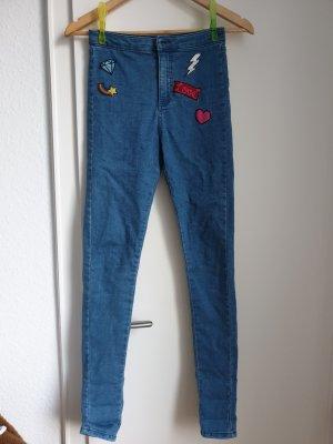 High Waist Trousers azure